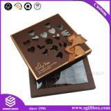 Boîte de empaquetage de papier faite sur commande à chocolat avec le guichet en plastique