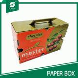 Carton lustré de cerise de papier de vernis avec le traitement