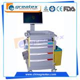 Chariot médical hospitalier sans fil luxueux pour soins infirmiers, chariot pour ordinateur portable (GT-QNT3701)