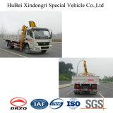 Camion hydraulique de cargaison de Yuejin 4.5ton avec la grue