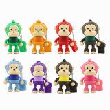 O USB animal quente do costume da venda 4GB conduz os desenhos animados do macaco bonitos