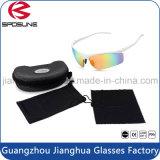 Abrigo blanco de ciclo ULTRAVIOLETA blanco de Fhashion de los anteojos de las mujeres al por mayor de la fábrica alrededor de las gafas de sol multicoloras polarizadas del senderismo
