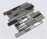 Pedra da tira longa e telha de mármore naturais do mosaico do cristal