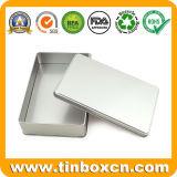 Dozen van de Rechthoek van het Tin van de douane de Duidelijke Zilveren voor de Container van de Opslag van het Metaal
