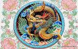 Numéro modèle historique de dragon et de Phoenix et de nuages propices de totem de chinois traditionnel : Wl-004
