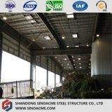 Construcción de la estructura de acero de la vertiente del almacén de Peb