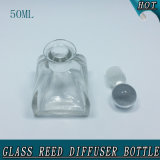 botella de lámina de cristal del difusor del corcho de la bola de cristal de la dimensión de una variable de la tienda de 50ml 125ml 270ml