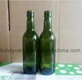 bouteille verte de boisson de bouteille de vin de raisin de la vis 187ml