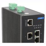 Interruptor industrial de la red de Ethernet con 8 accesos RJ45 y 2 gigabites SFP