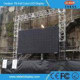 Alta pantalla de alquiler a todo color al aire libre impermeable IP65 P6 LED TV