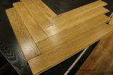 Pavimentazione Herringbone del legno duro della quercia naturale solida Finished prima del UV