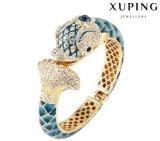 Brazalete de lujo del Rhinestone del nuevo de la llegada diseño de los pescados en color del oro 24k