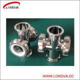 Vidro de vista de quatro vias sanitário do encanamento do aço inoxidável