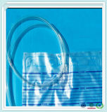 低価格の尿袋が付いているプラスチック医学のプラスチックカテーテル