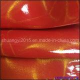 Couro do PVC TPU para o couro do plutônio das sapatas