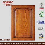 Porta de gabinete de madeira contínua da cozinha da laca (GSP5-026)