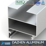 Profil en aluminium de porte coulissante de tissu pour rideaux de guichet avec le blanc de couche de poudre