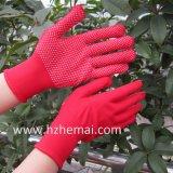 Цветастый Nylon PVC перчаток поставил точки перчатка работы безопасности перчаток сада