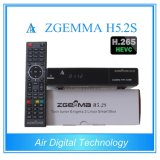 Esclusivamente i sintonizzatori gemellare Zgemma H5.2s del H. 265/Hevc DVB-S2+S2 si raddoppiano ricevente satellite di OS Enigma2 di Linux di memoria