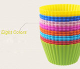 Moulage multicolore de gâteau de silicones de cuvette de fougère de cheval