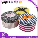 印刷されたカスタムシリンダー包装の花の円形の紙箱