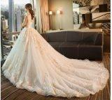 2017 vestidos de casamento nupciais bordados PLD3207 do laço