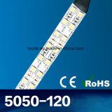 단 하나 색깔 두 배 줄 120LED/M SMD 5050 LED 지구