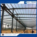 Disposición de acero del edificio del taller de la fabricación del taller de la fábrica del bajo costo