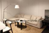 Vector de té de madera de la mesa de centro de mármol blanca moderna de los muebles (T-85A+B+C)