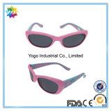 Glaces de Sun en caoutchouc colorées de lunettes de soleil de dessin animé de tempe pour des gosses