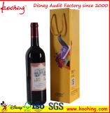 De goedkope Hete het Stempelen het In reliëf maken Buitensporige Zak van het Document van de Gift van de Fles van de Wijn/Zak van de Gift Papr van de Douane de Druk Gerecycleerde