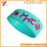 Оптовый изготовленный на заказ подарок промотирования Wristband браслета силикона логоса и силикона (YB-HR-378)