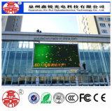 Parede elevada ao ar livre do vídeo da definição da tela de indicador do diodo emissor de luz P8