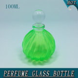 100ml Diagonal Crystal Glass Perfume Bottle with Gasbag Pump Sprayer