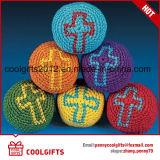 Hacky熱いハンドメイドの編まれた編まれた袋Kickballのごまかす球