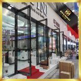 Golden Luxury Exterior Metal aço inoxidável Swing Security Glass Entry Door