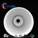 Pieza inserta de aluminio de la taza de la lámpara A95 cubierta por Plastic con pasos de progresión