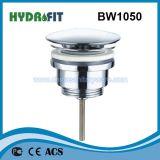 El cromo plateó la basura del enchufe del empuje del palero del agua de la bañera (BW1050)