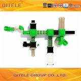 Diapositiva plástica del equipo del patio de los niños de China colorida