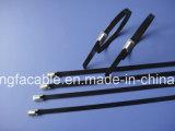 Fascetta ferma-cavo autobloccante rivestita dell'acciaio inossidabile del PVC per industriale