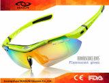 Heiße verkaufende im Freien UV400 Revo Objektiv-komprimierende Schutzbrillen des Großverkauf-2016, die Sport-Sonnenbrillen mit auswechselbarem Objektiv 5 komprimieren