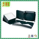 Rectángulo de papel plegable magnético negro de la cartulina para el embalaje del regalo