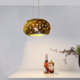 Então Popular Industrial Metal Latão Indoor pendurado pendente luzes da lâmpada pode ser como cozinha Iluminação em Dia350mm