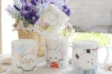 Tazza di ceramica promozionale per la tazza con il coperchio ed il cucchiaio