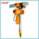 Alzamiento de cuerda eléctrico portable del encadenamiento y de alambre con el gancho de leva