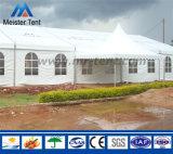 イベントのためのカーテンが付いている20mアルミニウム構造の結婚式の玄関ひさしのテント