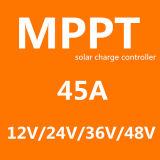 Het Intelligente ZonneControlemechanisme MPPT van Ce RoHS 45A met LCD Vertoning en Ve. Kabel
