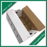 Caja de cartón amontonable plegable para la fruta y verdura