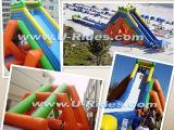 Wasserpark Giant Hipo Aufblasbare Wasserrutsche zum Strand