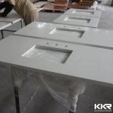 Controsoffitto artificiale della pietra del quarzo di migliore qualità, parte superiore di vanità